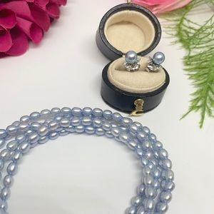 Jewelry - ⚜️Genuine Blue Freshwater Pearl Long Single Strand
